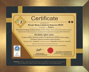 Congratulation on the Achievement of International Accreditation to MMAFD!